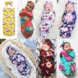 0-6M Infant Newborn Baby Blanket Swaddle Sleeping Bag Sleeps