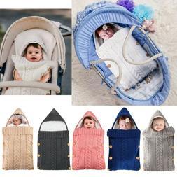 0-8M Infant Baby Boy Girl Kids Swaddle Sleeping Bag Stroller