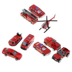 1:64 Fire Engine Truck Cars Model Set Vehicles Toy for Kids