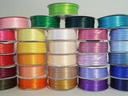 """1/8"""" X 100 Yard Double Faced Satin Ribbon Art & Sewing Party"""