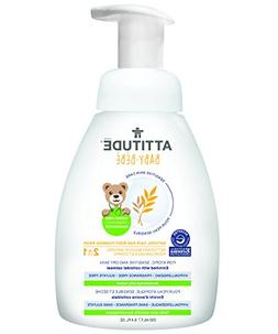 Attitude 2-in-1 Natural Hair and Body Foaming Wash Baby, Fra