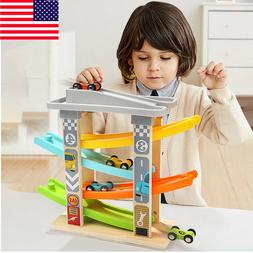 1 Set Toddler Toys Track Boys And Girls Gifts Wood Car Ramp