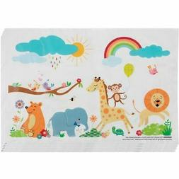100-Pack Safari Disposable Placemats Table Mats for Baby Tod