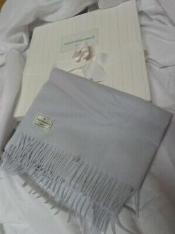 "Ermenegildo Zegna 100% Cashmere Baby Boy Blanket Blue 40""x29"