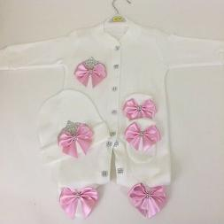 100%cotton newborn baby shower outfit gift 3 pics 0-3 ,3-6,
