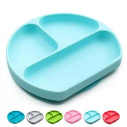 100% Silicone Divided Baby Toddler Suction Plate BPA-Free |