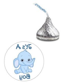 108 ITS A BOY ELEPHANT BABY SHOWER HERSHEY KISS KISSES CANDY