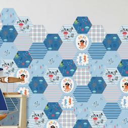 10pcs Wall Stickers Educational Ocean Series Decorative Wall