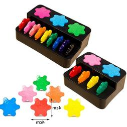 12/6 ColorEarly Educational Painting Snowflake Crayon Child