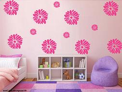 12 Daisy flowers removable wall / window stickers for home k