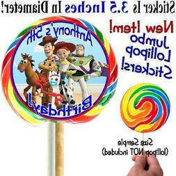 12 Toy Story Birthday Party Baby Shower Lollipop Sticker Buz