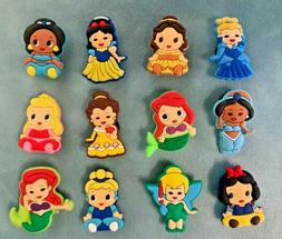 12 x DISNEY PRINCESS BABIES Jibbitz Shoe Charm made for Croc