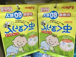120 pcs / 2 bags Japan Pigeon Baby Mosquito Insect Stick Pad