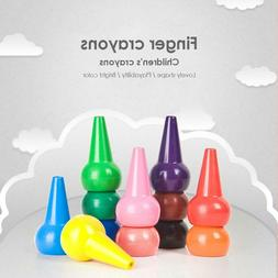 12pcs Creative Non-toxic Children Safety Color Crayons Baby