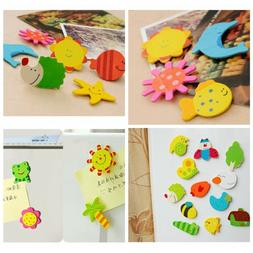 12pcs/pack Cute Stickers Baby Toy Kids Animal Fridge Magnet