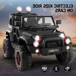 12V Battery Kids Ride on Truck Car Toys MP3 LED Lights w/RC