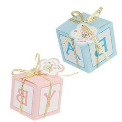 12x Pink/Blue Candy Gift Boxes for Girl Boy Baby Shower Favo