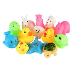 13Pcs Bath Time Baby Kids Toys Bathing Animals Fun Soft Rubb