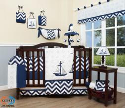 13PCS Nautical Explorer Baby Nursery Crib Bedding Sets  Holi