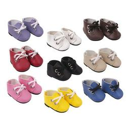 14.5inch Baby Doll Shoes Flats for American Doll Clothes Acc