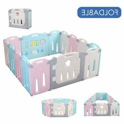 14 Panel Baby Fence Kids Activity Center Safety Play Yard Pl