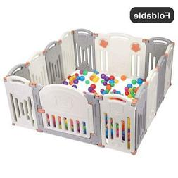 14 Panel Baby Playpen Kids Activity Centre Safety Play Yard