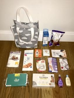 15 Pc Lot Target Welcome Baby Samples Gift Bag Set New Mom D