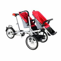 16 Inch 2 Seats Baby Carriage Stroller Folding buggy Parent-