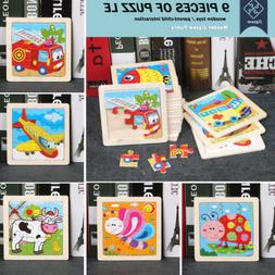 17 Styles Animals Wooden Puzzle Blocks Toddler Baby Kids Chi