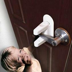 1/2pcs Door Lever Lock Child Proof Doors Handle Adhesive Chi