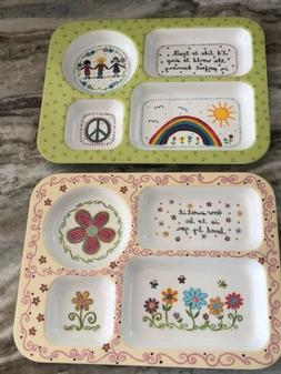 2 Boutique Toddler NATURAL LIFE Plates Platters Dishes NWOT