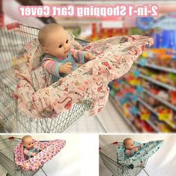 2-in-1 Baby Shopping Trolley Cart Cover Seat kids High Chair