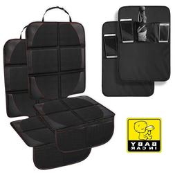 Auto Seat Cover for Carseats and Kids Kick Mats with Backse