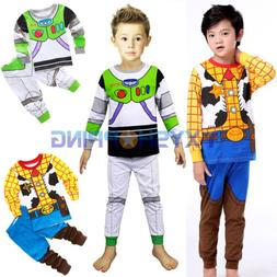 2pcs Infant Kid Baby Toy Story Buzz Lightyear Woody Sleepwea