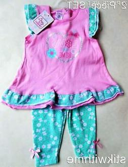 2-Piece SET Sleeveless Top & Leggings Outfit  Baby Girls' Cl