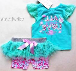 2-Piece SET. TUTU Skirted leggings & Top   Baby Girls' Cloth