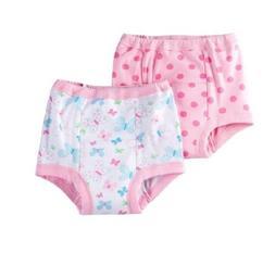 NEW 2 Girls Gerber Training Pants~Pink~Size 3T~100% Cotton~P