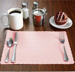 """2000 Raise® Baby/Light Pink Placemats, Scalloped,10""""x14"""" pl"""