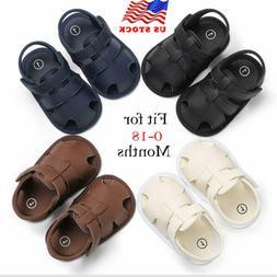 2019 Fashion Toddler Kid Baby Boy Sole Sandals Toddler Summe