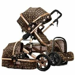 2019 High landscape baby stroller can sit reclining two-way