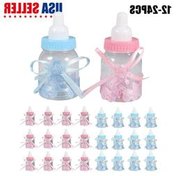 24 fillable baby shower candy bottle favors