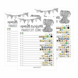 25 Elephant Emoji Nursery Rhyme Baby Shower Game Party Ideas