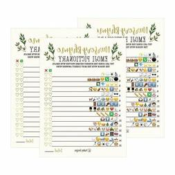 25 Greenery Nursery Rhyme Baby Shower Emoji Game