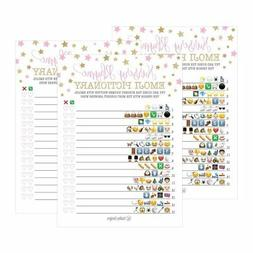 25 Pink Emoji Nursery Rhyme Baby Shower Game Party Ideas For