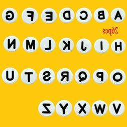 26pcs English Letters Shoe Charms For Jibbitz Clog Shoes/Wri
