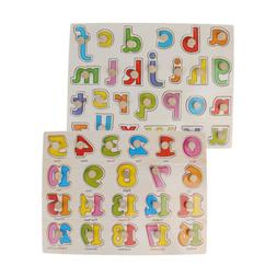 2PC Montessori Wooden Toy Puzzle for Kids Toddlers - Numbers