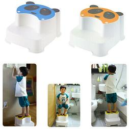 2pcs Baby Cartoon Step Stool Kid Toilet Increase Anti-slip B