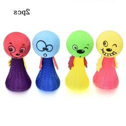 2Pcs Creative Jump Doll Bounce Elf Fly Baby Children Kids Fu