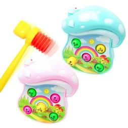 2pcs Plastic kids handle hammer hit hamster toy accessories