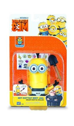 Despicable Me 3 Deluxe Action Figure Minions Jail Time Tatto